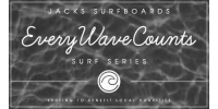 Jack's Surfboards Every Wave Counts logo